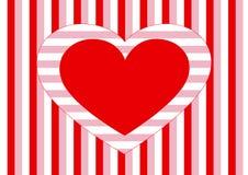 Coração e listras Imagens de Stock Royalty Free