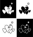 Coração e moneybox ilustração do vetor