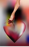 Coração e mulher foto de stock royalty free