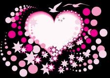 Coração e pássaro Imagem de Stock