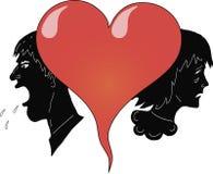 Coração e povos Imagens de Stock Royalty Free