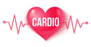 Coração e pulso ilustração stock