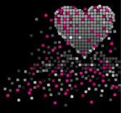Coração e quadrados Imagem de Stock Royalty Free