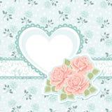 Coração e rosas ilustração royalty free