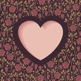 Coração e rosas Imagens de Stock