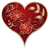 Coração e rosas Foto de Stock Royalty Free