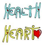 Coração e saúde Foto de Stock