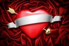Coração e seta Foto de Stock