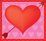 Coração e seta Fotos de Stock Royalty Free