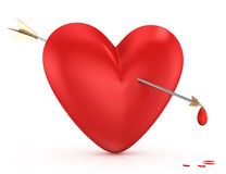 Coração e seta Fotos de Stock