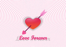 Coração e seta, o dia de Valentim Fotos de Stock