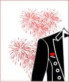 Coração e tailcoat vermelhos Fotografia de Stock Royalty Free