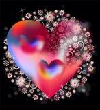 Coração e unicidade ilustração royalty free