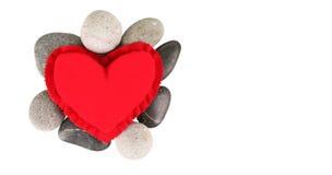 Coração e Zen Stones vermelhos II Fotografia de Stock