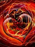 Coração electrificado imagens de stock