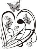 Coração elegante Fotos de Stock Royalty Free