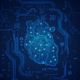 Coração eletrônico ilustração do vetor