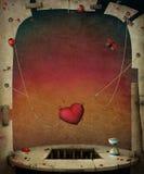 Coração em cordas ilustração royalty free