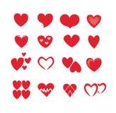 Coração em um fundo branco Imagem de Stock Royalty Free