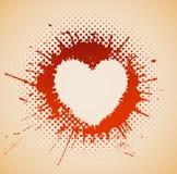 Coração em um ponto do grunge Foto de Stock Royalty Free