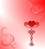 Coração em um suporte O dia de Valentim do amor Imagem de Stock Royalty Free