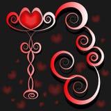 Coração em um suporte O dia de Valentim do amor Imagens de Stock