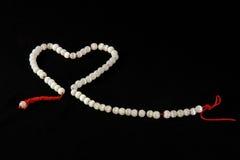 Coração em uma corda Foto de Stock Royalty Free