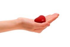 Coração em uma mão Foto de Stock Royalty Free