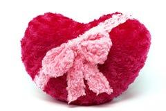 Coração enchido vermelho isolado no fundo branco Fotos de Stock