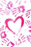 Coração entre as palmas Fotografia de Stock