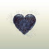 Coração escuro Fotografia de Stock