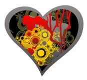 Coração escuro do grunge ilustração stock