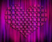 Coração escuro do sumário 3D ilustração do vetor
