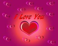 Coração especial do coração com eu te amo texto para a pessoa especial ilustração do vetor