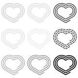 Coração-espiral Fotos de Stock