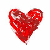 Coração estilizado cursos pintados da escova Imagens de Stock