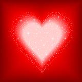 Coração estrelado Foto de Stock Royalty Free