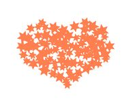 Coração estrelado Projeto do vetor ilustração do vetor