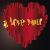 Coração   Eu te amo mim Foto de Stock Royalty Free