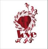 Coração   Eu te amo quadro Foto de Stock Royalty Free
