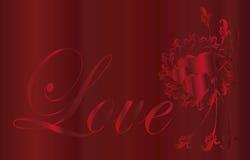 Coração   Eu te amo quadro Fotografia de Stock Royalty Free