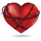 Coração farpado. Vetor. Imagem de Stock