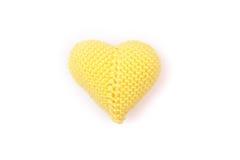 Coração feito crochê das linhas Imagem de Stock Royalty Free