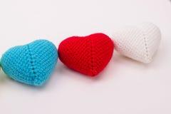 Coração feito crochê das linhas Foto de Stock