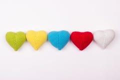 Coração feito crochê das linhas Foto de Stock Royalty Free