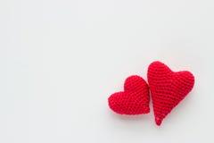 Coração feito crochê das linhas Fotos de Stock Royalty Free