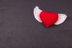 Coração feito crochê das linhas Imagens de Stock Royalty Free