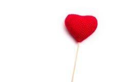 Coração feito crochê das linhas Imagem de Stock