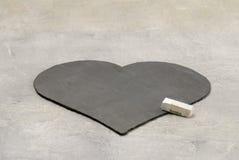 Coração feito da ardósia Foto de Stock