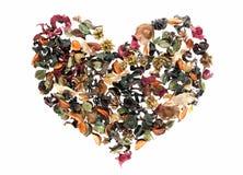 Coração feito das flores Fotos de Stock Royalty Free